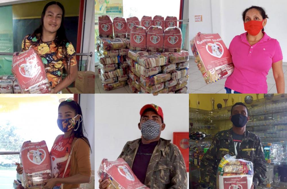 Campanha 'Garantido Solidário' ultrapassa 200 cestas básicas entregues