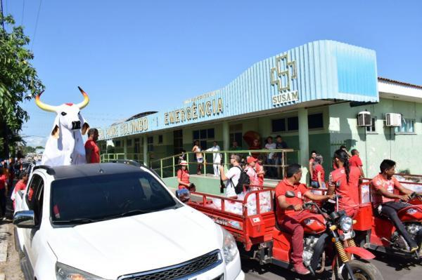 Responsabilidade social: Boi Garantido entrega doações ao Hospital Padre Colombo